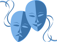 Pair of masks - blue